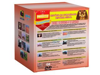 Coleção De 8 Dvds História Da Humanidade +1 Livro - Original