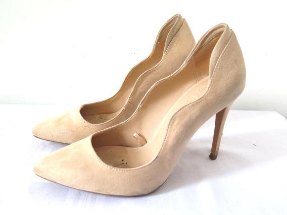 Zapatos Stilettos Simil Gamuza Color Durazno Bershka 39