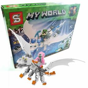 My World Dragon Blocos De Montar Mine 99 Pçs Branco - 1035b