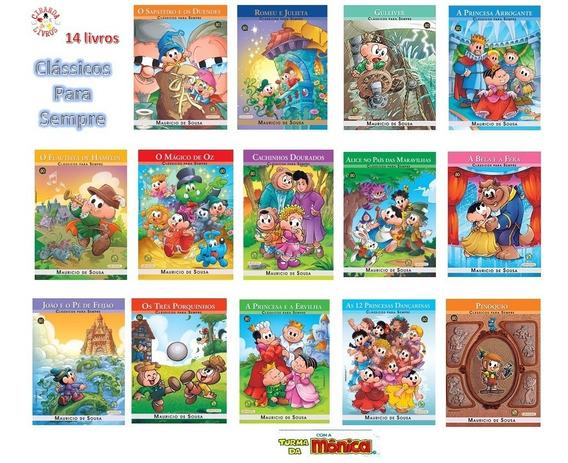 Coleção Clássicos Para Sempre - Turma Da Mônica - 14 Livros
