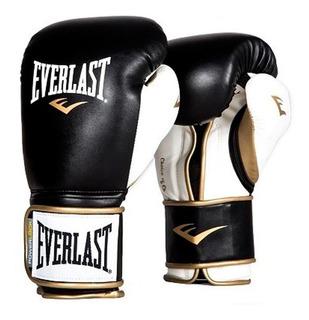 Guantes Boxeo Powerlock Negro/ Blanco 14 Oz Everlast