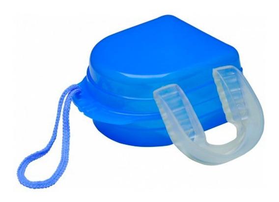 Protetor Bucal Simples Transparente Ou Preto C/ Caixinha