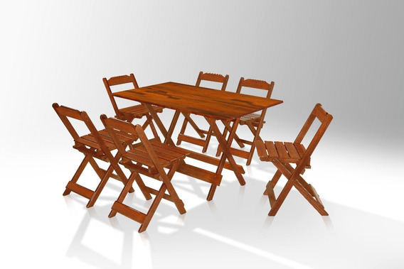 Jogo De Mesa E 4 Cadeiras 120cm X 70 Cm Area De Lazer Mel