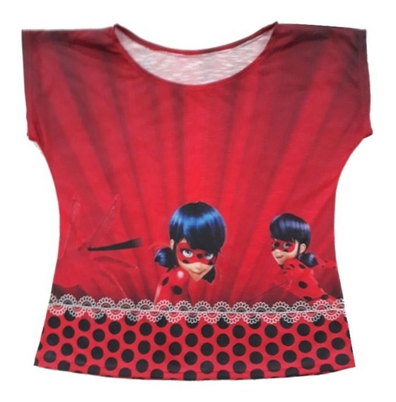 Blusa Ladybug Miraculous Temática Festa
