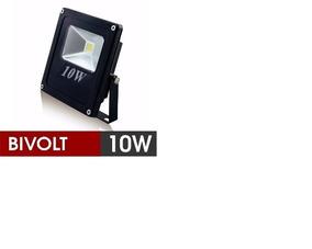 10 Refletor Led Holofote 10w Bivolt Prova D