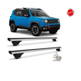 Rack Teto Travessa Jeep Renegade Reese+chave P/travame Prata