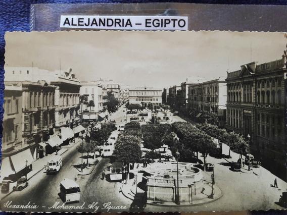 Antigua Postal De La Ciudad De Alejandría Egipto