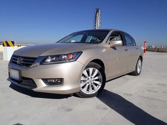 Honda Accord 2014 Exl 4 Cil Piel Quemacocos Unico Dueño