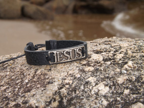 Pulseira Bracelete Masculino Jesus Unissex