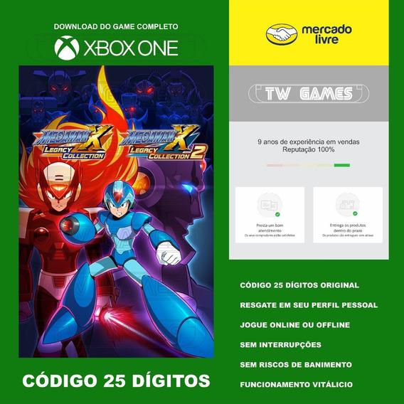 Mega Man X Legacy Collection Codigo 25 Digitos Xbox Fat S X