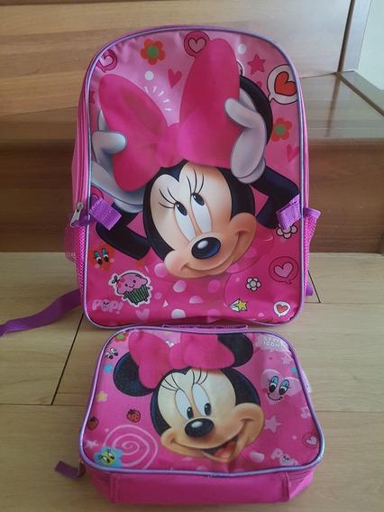 Mochila Y Lonchera De Minnie Mouse