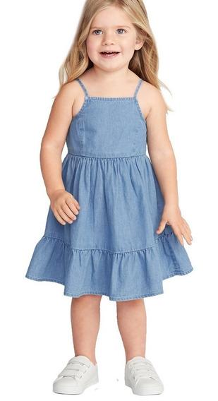 Vestido Casual Bebé Niña Corto Tirantes Azul 391495 Old Navy