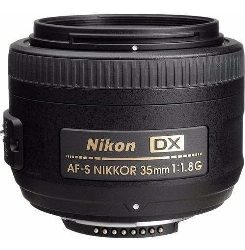 Lente Nikon Af-s Dx Nikkor 35mm F/1.8g Dsrl 12x S/juros