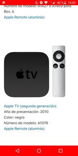 Apple Tv 2ng Generación Importado Usado