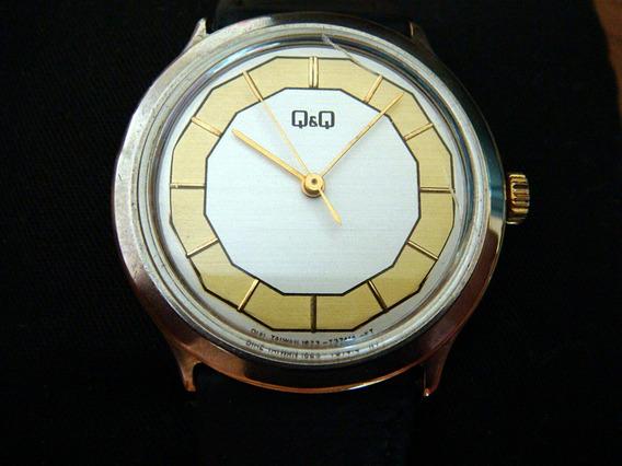 Reloj De Los 80s Q&q Clásico Carga Manual (cuerda).
