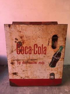 Hielera Nevera Coca Cola Años 60s Mediana