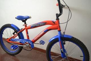 Bicicleta Rodado 20 Bmx Naranja Azul