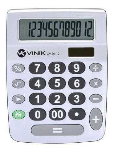 Calculadora De Mesa Comercial 12 Dígitos Solar Ou Pilha
