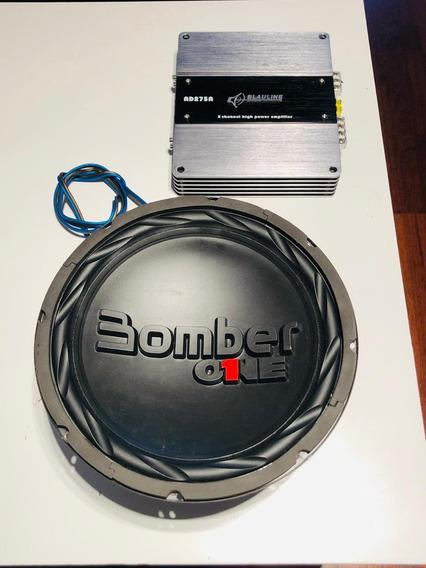 Bomber One Subwoofer + Potencia 225 Un Pago Otro Precio