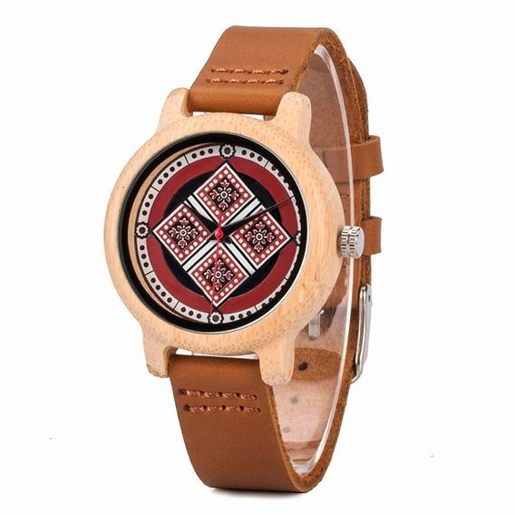 Relógio Feminino Bambu Analógico J20 Bobo Bird Único