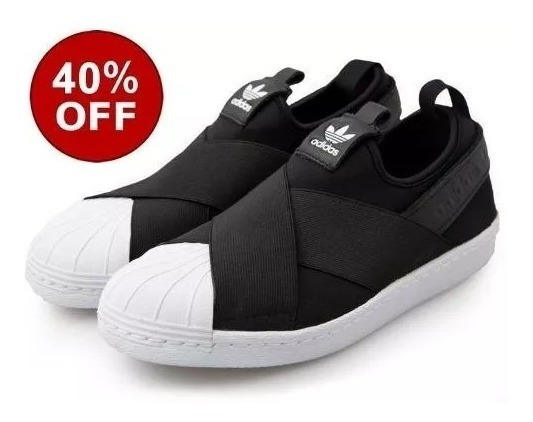Tenis adidas Slip On Superstar Elastico Original Frete Grati