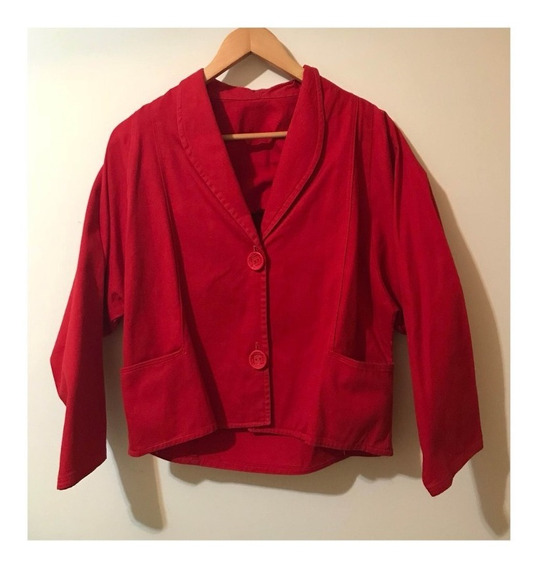 Jaqueta Vermelha Vintage Cropped G
