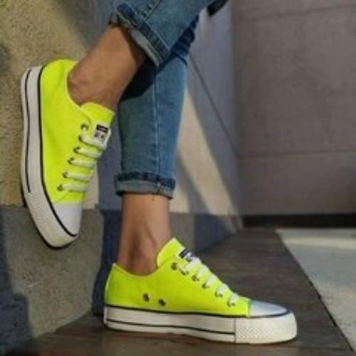 Zapatillas Fluor Converse All Star Mujer