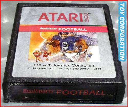 Cartucho Juego Real Sports Football Atari Inc 2600 Año 1982