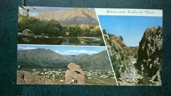 Tarjeta Postal * Capilla Del Monte* Lago Aguila Blanca