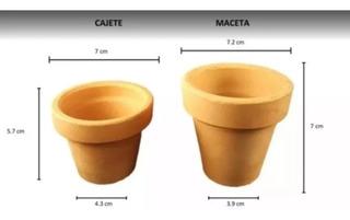 Paquete 40 Macetas O Cajetes De Barro De 7cm