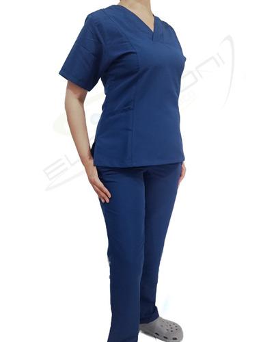 Uniforme Antifluidos Para Enfermería / Veterinaria / Negro