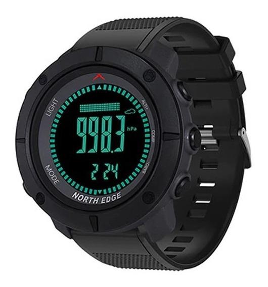 Relógio Masculino North Edge Apache Altímetro, Bússola, Barômetro, Km, Previsão Do Tempo, Black Light... ( Original )