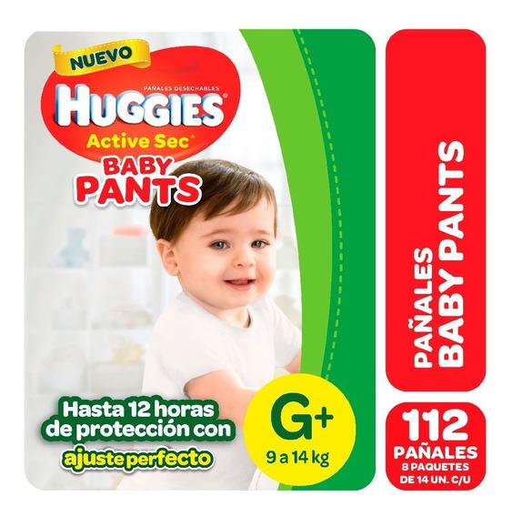 Pañales Huggies Active Sec Baby Pants Mx16 Gx14 Pack X 8