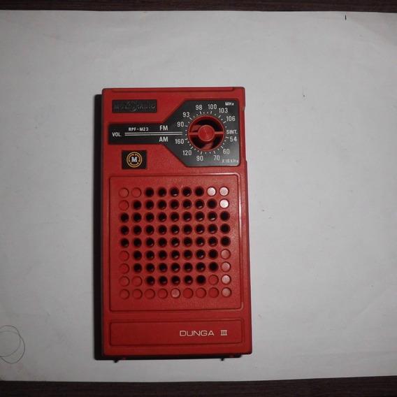 Carcaça Rádio Portátil Motoradio Dunga 3 Vermelho