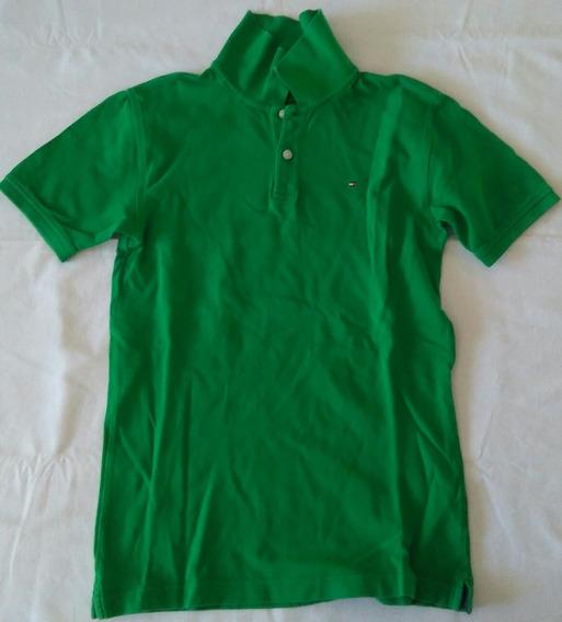 Polo Tommy Hilfiger Importado Verde Niño 12/14 Años