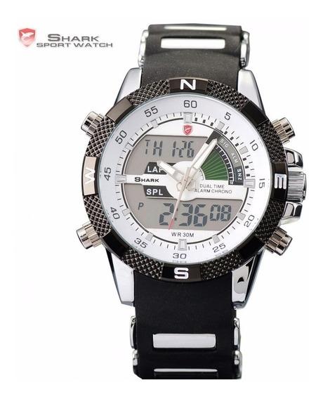 Relógio Esporte Shark Porbeagle Sh041 Masculino Inox