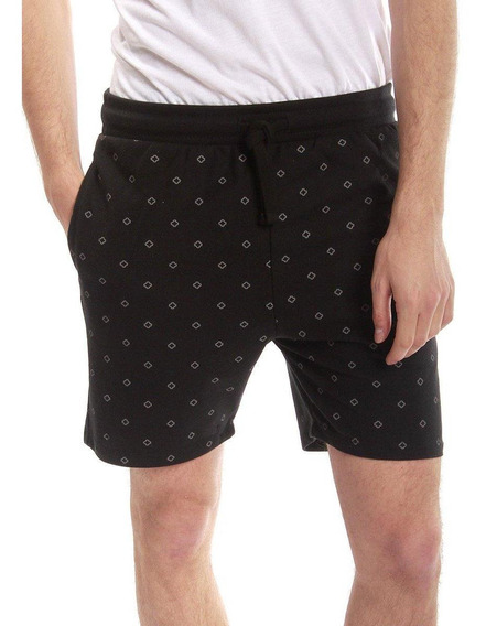 Short Gris Negro All Over Print