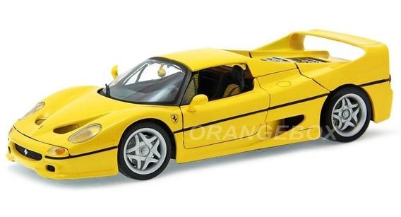 Ferrari F50 Bburago 1:18 Amarelo 16004-amarelo