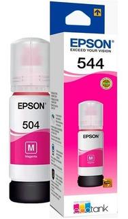 Botella Tinta Epson 504 Color T504 L4150 L4160 Wis
