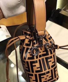 Bolsa Fendi Bucket Ff Ss18 100% Couro Original