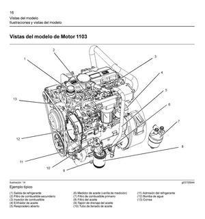 4 Manuales De Taller Motor Perkins 1103c/1104c En Español
