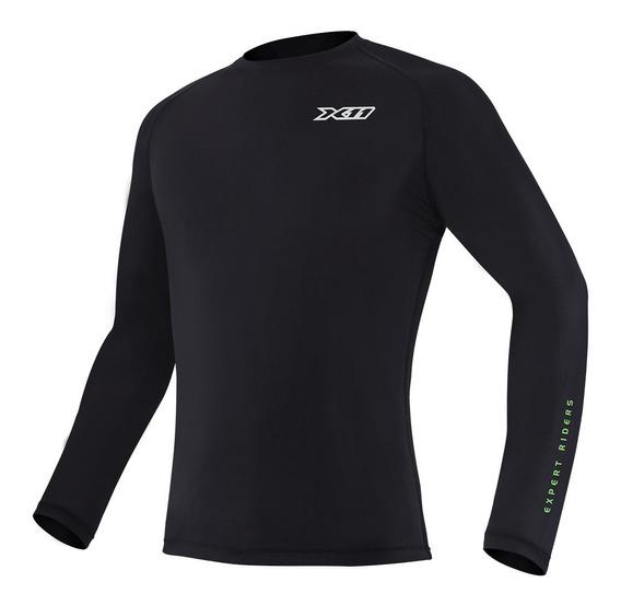 Camisa Segunda Pele X11 Climate 2 Preta Proteção Uv Moto