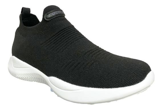 Tenis Sneaker Comodos Para Dama O Caballero Tela Negro A3303