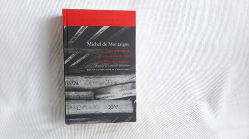 Los Ensayos Edic Gournay 1595 Michel De Montaigne Acantilado