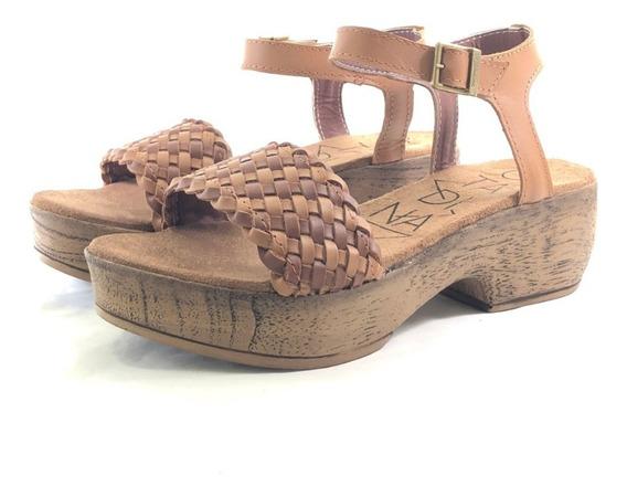 Citadina Gaba Sandalia Cuero El Mercado De Zapatos!!!