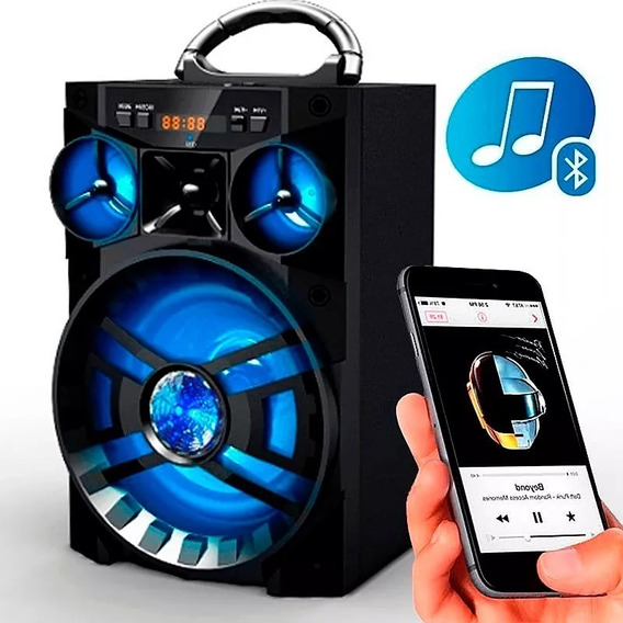 Caixa De Som Portátil Bluetooth Potente 15w Rádio Fm Usb Aux