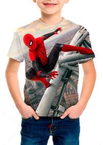 Camiseta Infantil Filme Homem Aranha Longe De Casa - M001