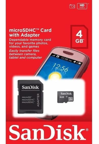 Kit 2 Cartão De Memória Sandisk Micro Sd 4gclasse 4 Promoção