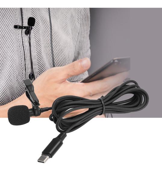 Microfone Condensador Tipo C Colar Microfone Karaoke Microfo