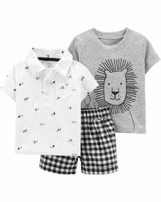 Conjunto Carters Menino 3m Camisetas Calça Importado Novo